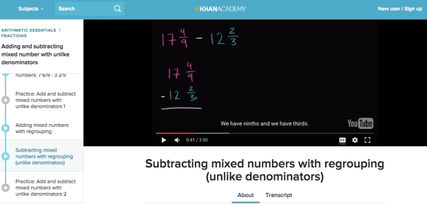 Khan Academy – Mixed Numbers Lesson | 5th Grade at Anderson